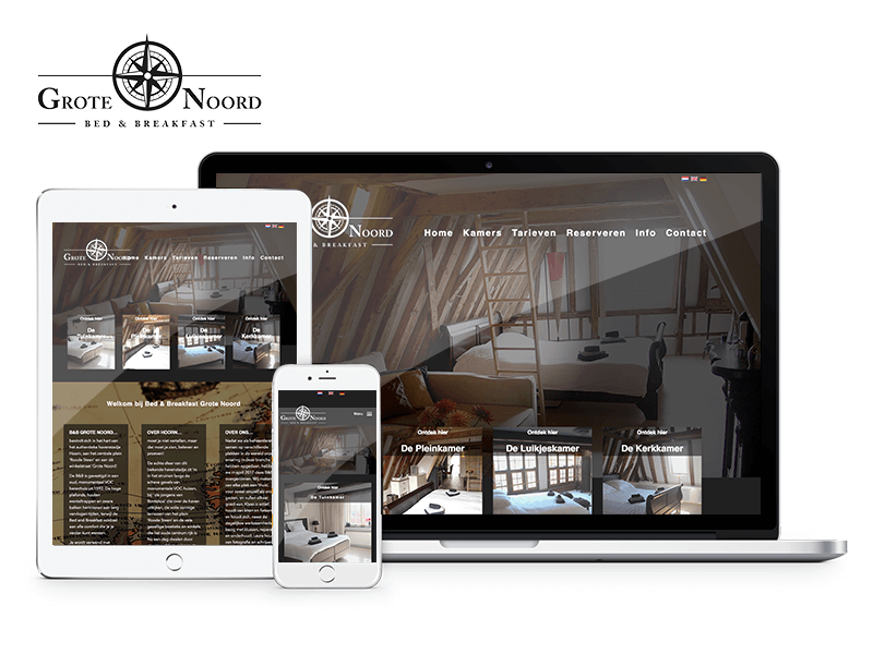 Bed & Breakfast Grote Noord Hoorn | Project Direct | Webdesign Wognum | Website bouwen Wognum | Wordpress Wognum | Grafische vormgever Wognum | SEO Wognum | Hosting | Wordpress training | Logo design Wognum | SSL Certificaten | Website onderhoud | Timo van Tilburg